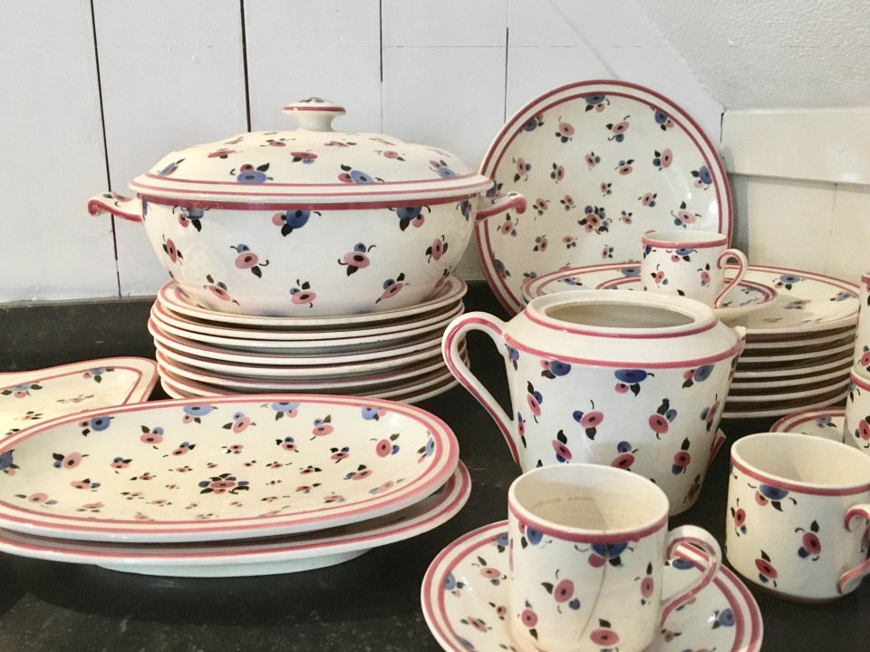 Servies En Brocante.Frans Servies Dinerservies Oud Servies Brocante Servies